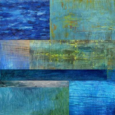 Compilation Painting - Essence Of Blue 2.0 by Michelle Calkins