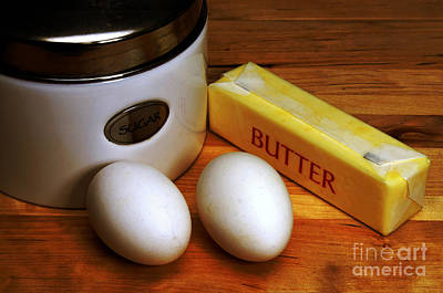 Photograph - Essential Baking Ingredients by Danny Hooks