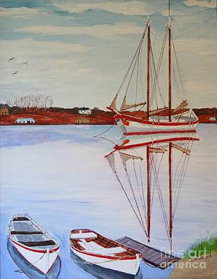 Painting - Essex Harbor Reflections by Bill Hubbard
