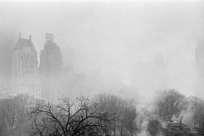 Photograph - Essex House And Central Park Fog by Dave Beckerman