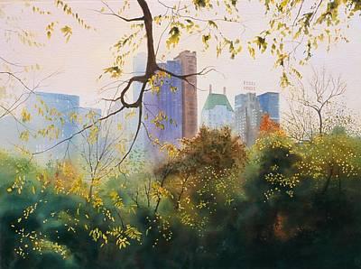 New York City Skyline Painting - Essex House by Daniel Dayley