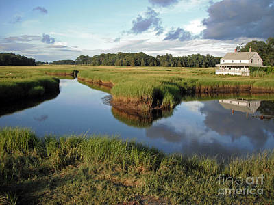 Farnham Photograph - Essex Massachusetts Salt Marsh by Steve  Gass