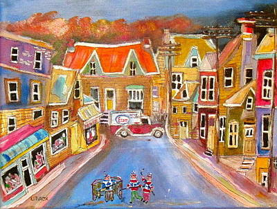 Esso Oil Painting - Esso Delivery by Michael Litvack