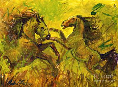 Painting - Establishing by Linda L Martin