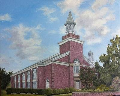 Seminary Painting - Estes Chapel At Asbury Seminary by Wade Powell