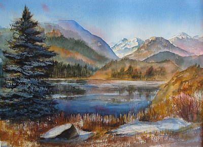 Painting - Estes Park Colorado by Arlys Hefty