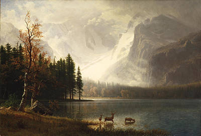 Estes Park Colorado Whytes Lake Print by Albert Bierstadt
