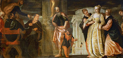 Esther Painting - Esther Before Ahasuerus by Paolo Veronese