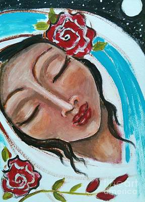 Sacred Feminine Moon Painting - Esther by Maya Telford