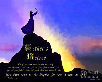 Queen Esther Painting - Esther's Decree by Constance Woods