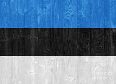 Water Droplets Sharon Johnstone - Estonia flag by Luis Alvarenga