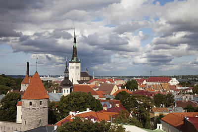 Estonia, Tallin, Overview Of The Old Art Print by Tips Images