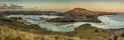 Hedgehog Wall Art - Photograph - Estuary At Hoopers Inlet Otago by Colin Monteath