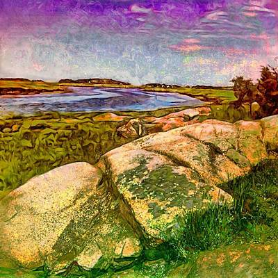 Painting - Estuary On Cape Ann - Square by Lyn Voytershark