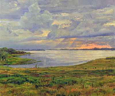 Painting - Estuary Polovinka by Galina Gladkaya