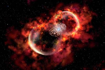 Shockwave Photograph - Eta Carinae Outburst by Gemini Observatory Artwork By Lynette Cook