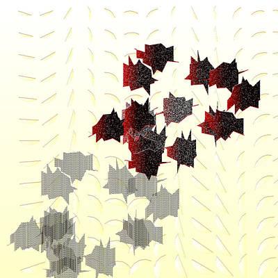 Leaves Digital Art - Et_cetera.137.5 by Gareth Lewis