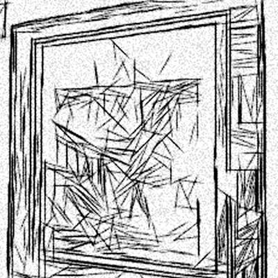 Etch-a-sketch On Acid Frame Art Print by Jonathan Harnisch
