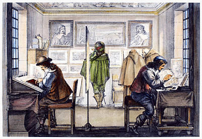 Creativity Drawing - Etcher And Engraver, 1643 by Granger