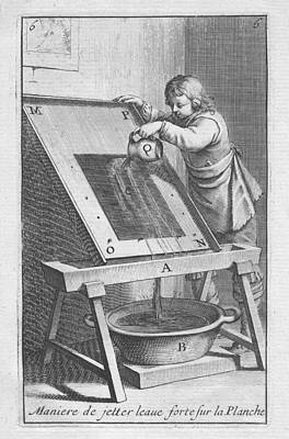 Digital Art - Etching A Plate by Abraham Bosse