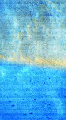 Abstract Expression Painting - Eternal Blue - Blue Abstract Art By Sharon Cummings by Sharon Cummings