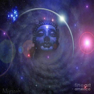 Pleiades Digital Art - Eternal Buddha by Mynzah Osiris