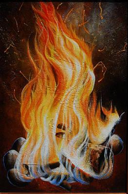 Painting - Eternal Fire by Lori Salisbury