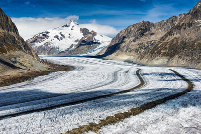 Photograph - Eternal Ice - Aletsch Glacier Swiss Alps Switzerland by Matthias Hauser