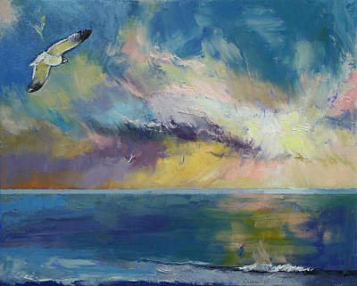 Sea Birds Painting - Eternal Light by Michael Creese