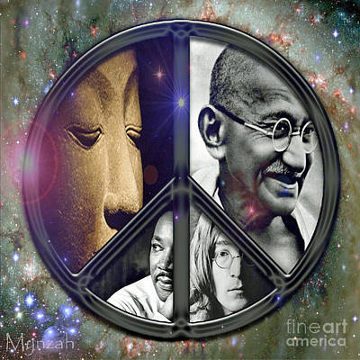 Martin Luther King Digital Art - Eternal Peace by Mynzah Osiris