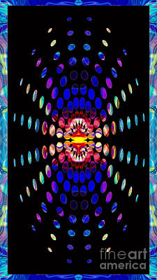 Conscience Digital Art - Eternal Rays Of Hope Abstract Healing Artwork by Omaste Witkowski
