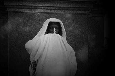 Menacing Photograph - 'eternal Silence'- Graceland Cemetery Chicago by Christine Till