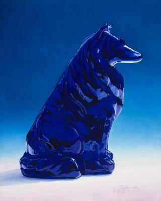 Eternally Painting - Eternally Blue by Gary  Hernandez