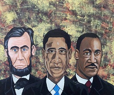 Obama Painting - Eternally Connected by Donald Lyons