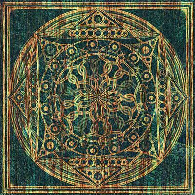 Meditative Digital Art - Eternity Mandala Weathered by Hakon Soreide