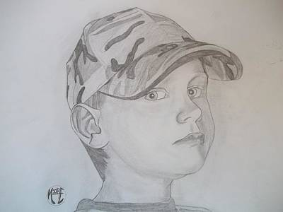 Art Print featuring the drawing Ethan Age 6 by Justin Moore