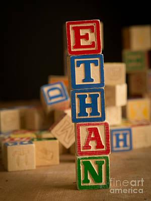 Ethan - Alphabet Blocks Art Print