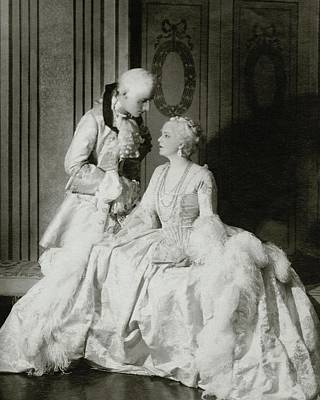 Ethel Barrymore And Henry Daniel In Costume Art Print by Francis Bruguiere