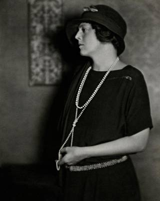 Long Necklace Photograph - Ethel Barrymore by Nicholas Muray