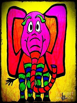 Ethel The Elephant Art Print