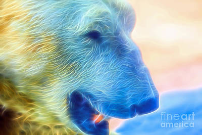 Digital Art - Ethereal Bear by Ray Shiu