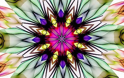 Ethereal Colors Mandala Art Print