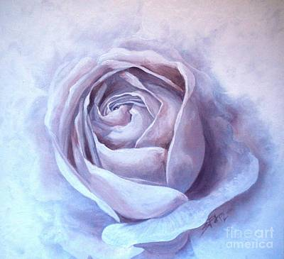Ethereal Rose Art Print by Sandra Phryce-Jones