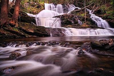 Gentle Cascades Photograph - Ethereal Flow Garwin Falls Milford Nh by Jeff Sinon