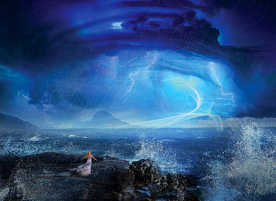 Blue Art Digital Art - Etherstorm by Philip Straub