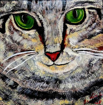 Ethical Kitty See's Your Dilemma Art Print by Lisa Brandel