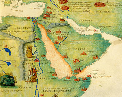 Ethiopia, The Red Sea And Saudi Arabia, From An Atlas Of The World In 33 Maps, Venice, 1st Art Print by Battista Agnese