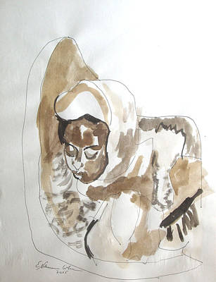 Painting - Ethiopian Child Pieta by Esther Newman-Cohen