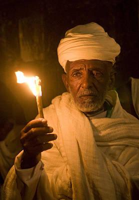 Ethiopian Holy Fire Ceremony Art Print by Kobby Dagan