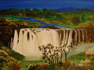 Ethiopian Nile Waterfall Art Print